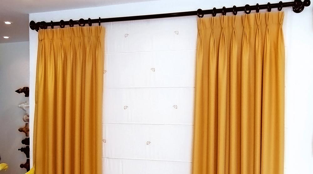 cortinas para sala con argollas cole o de